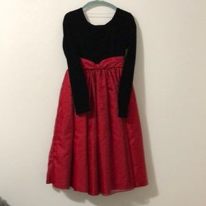 Long Black and Red Party Dress